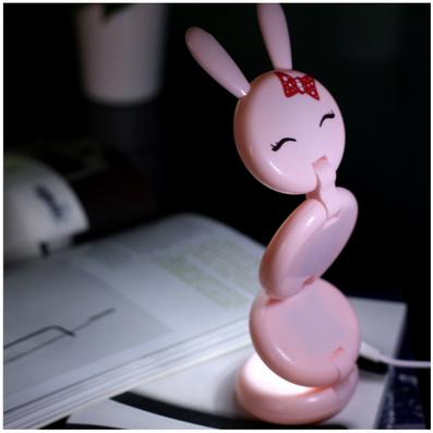 led觸膜燈 兔子夜燈 觸控調節