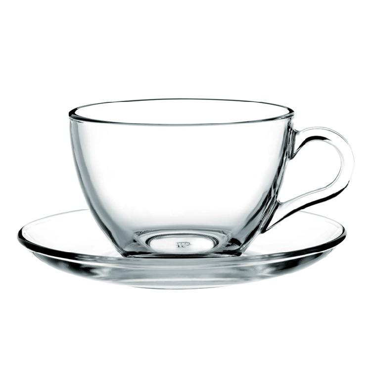 透明玻璃杯 咖啡杯 带把花茶杯定制