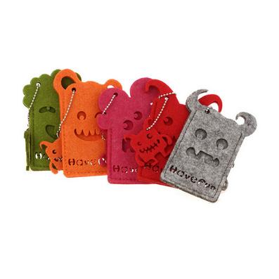 怪物系列卡套 多色可選 材質優質毛氈布公交卡套
