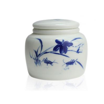 茶葉罐陶瓷密封罐青花迷你陶瓷茶葉罐