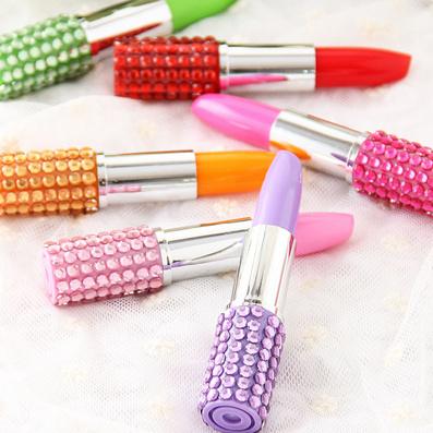 日韩国创意笔 小学生礼物文具奖品 儿童口红圆珠笔