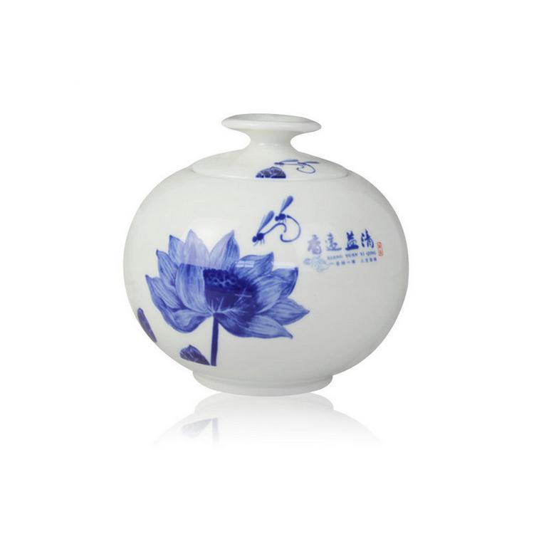 天地方圆茶叶罐高档陶瓷礼品定制