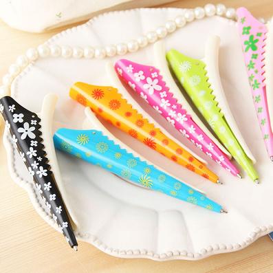 日韩国款创意文具礼品 时尚夹子造型 创意圆珠笔 发夹笔