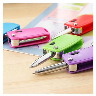 韩国创意文具 可折叠车钥匙造型笔 钥匙扣圆珠笔