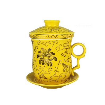 促銷陶瓷杯 四件杯 陶瓷杯定做