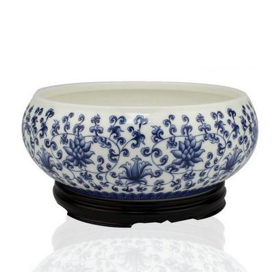 玉瓷茶洗【纏枝蓮】功夫茶具批量定制