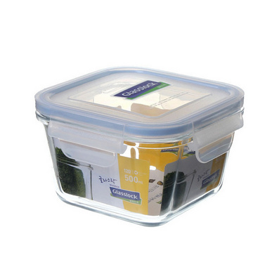 正方形玻璃保鮮盒500ml 定制