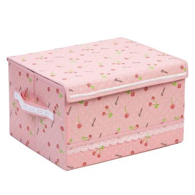 櫻桃衣物花邊收納箱 家居收納箱