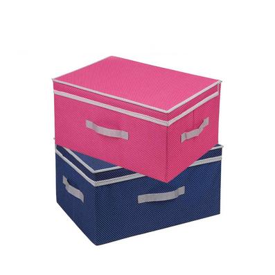 牛津布超大号双盖储物箱 可定做花边衣物储物箱