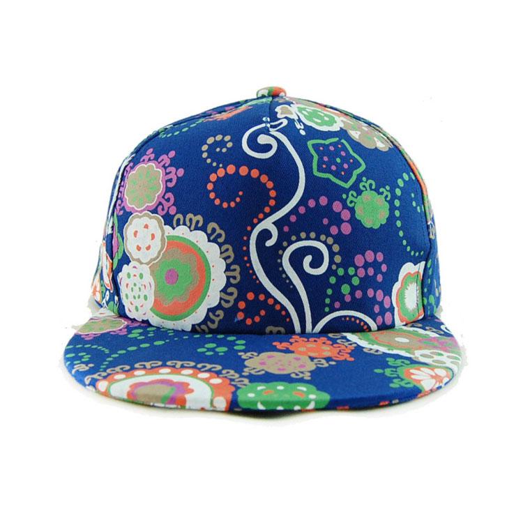 韩版嘻哈帽潮流大花纹bboy棒球帽hiphop平檐帽