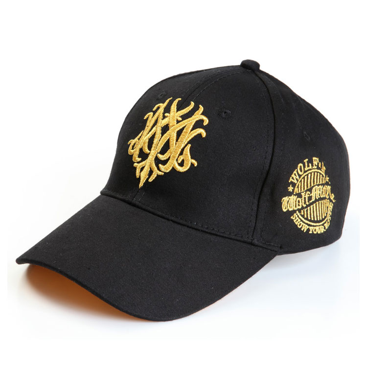 韩版M狼7代 棒球帽 男士刺绣帽子 女帽 户外 遮阳帽子