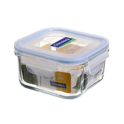 正方形钢化玻璃保鲜盒490ml定制