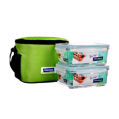 玻璃保鲜盒 便携饭盒 便当盒两件套定制
