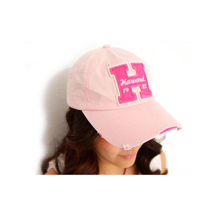 韩版夏H字母加长帽檐 休闲女士帽