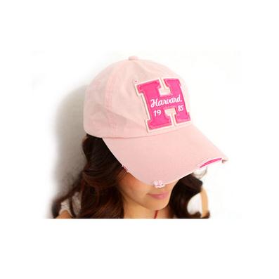 韓版夏H字母加長帽檐 休閑女士帽