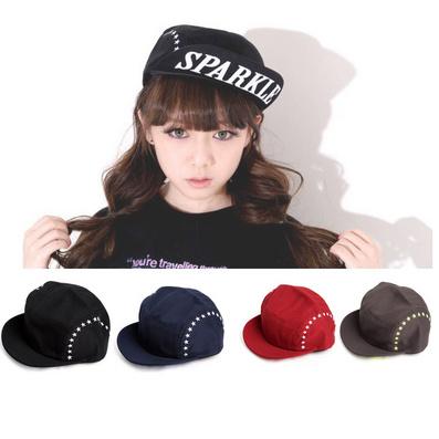 韓版風男女情侶帽翻檐帽sparkle星星刺繡帽