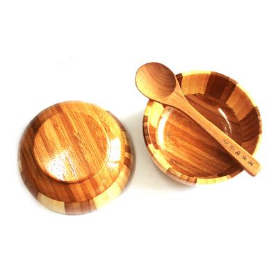 日式天然环保小竹碗 面碗 沙拉碗 面条碗定制
