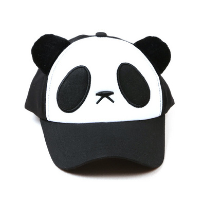 儿童熊猫帽子 春夏男女亲子棒球帽鸭舌帽