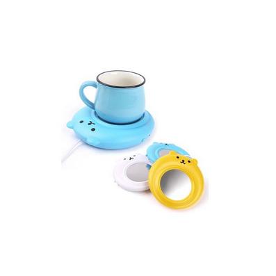 創意USB電熱保溫墊 小熊保溫碟 恒溫加熱杯墊