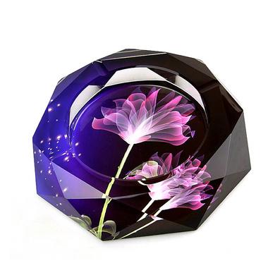 新款紫色薰衣草水晶烟灰缸定制