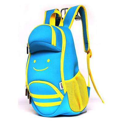 防水環保潛水料兒童書包幼兒園雙肩包小朋友背包笑臉包