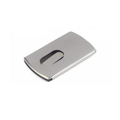 加厚手推不銹鋼名片盒名片夾名片包定制