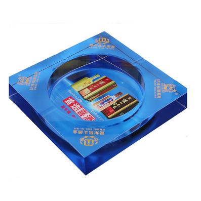 供应k9料方形水晶烟灰缸彩印logo定制