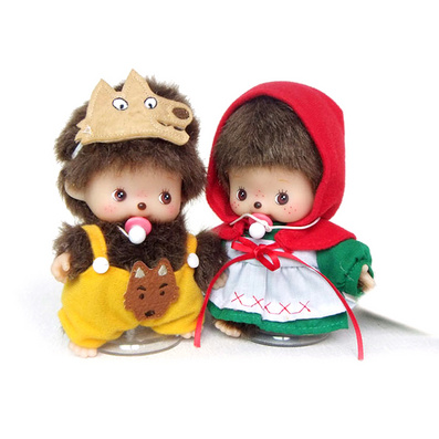蒙奇奇毛绒玩具  小红帽与灰太狼组合装