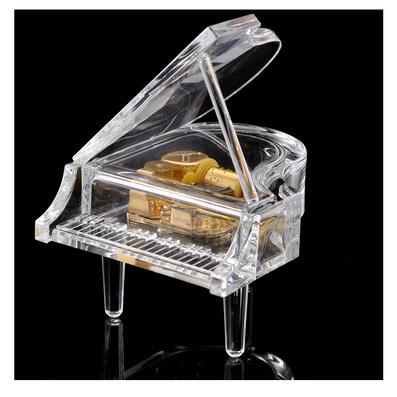 水晶鋼琴音樂盒八音盒創意禮品定制