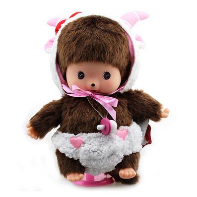 蒙奇奇扮羊羊毛絨玩偶 毛絨玩具
