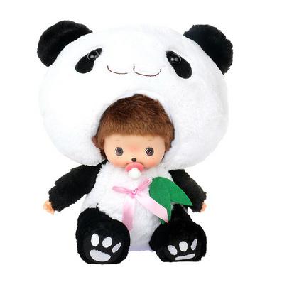 蒙奇奇 大头熊猫毛绒玩具  玩具公仔