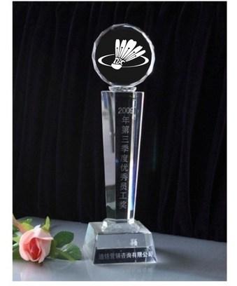 水晶籃球 足球 網球 高爾夫 排球賽獎杯定制