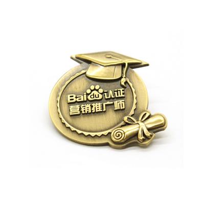 合金鍍古銅色徽章定制