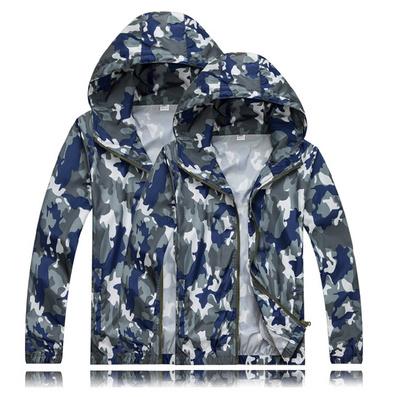 戶外迷彩皮膚風衣防紫外線防曬衣