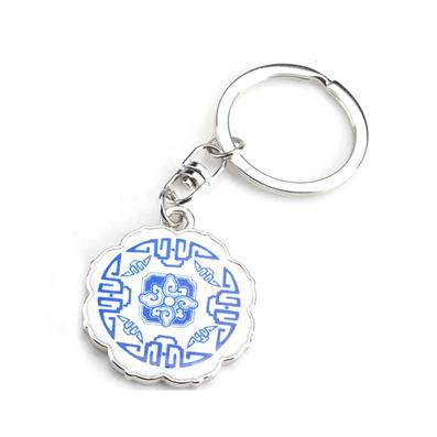 中国风青花福钥匙扣创意钥匙链