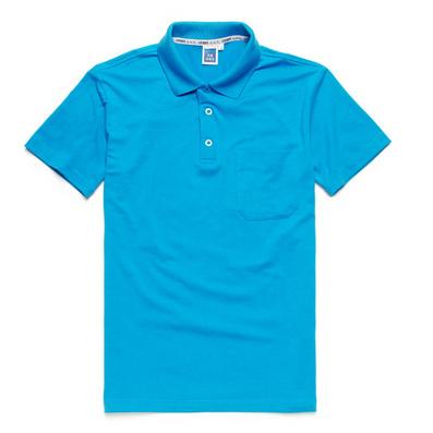 男裝純棉短袖翻領t恤 180克平紋短袖polo衫