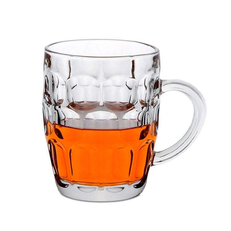 玻璃杯菠萝杯300ml 啤酒杯扎啤杯