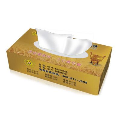 覆亮膜紙巾盒紙巾抽定制