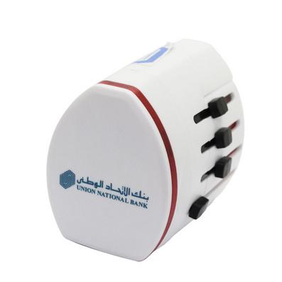 全球通用旅行插座(带2USB口)/多功能旅行转换插座/万能插座