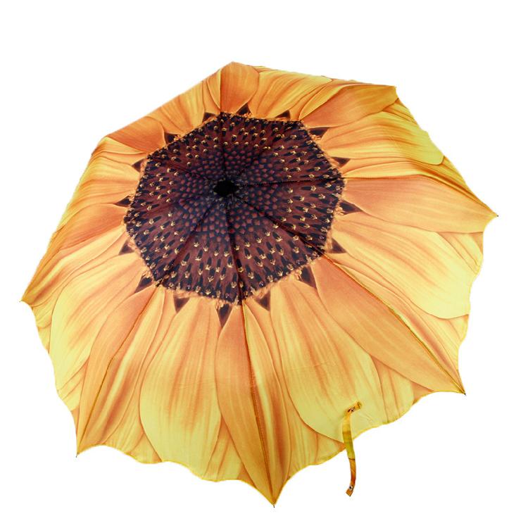 向日葵三折晴雨伞定制