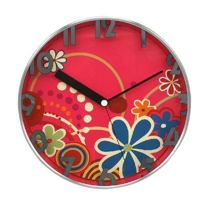 12寸鋁殼靜音時尚客廳鐘表