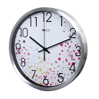 12寸鋁殼金屬客廳靜音實用創意掛鐘