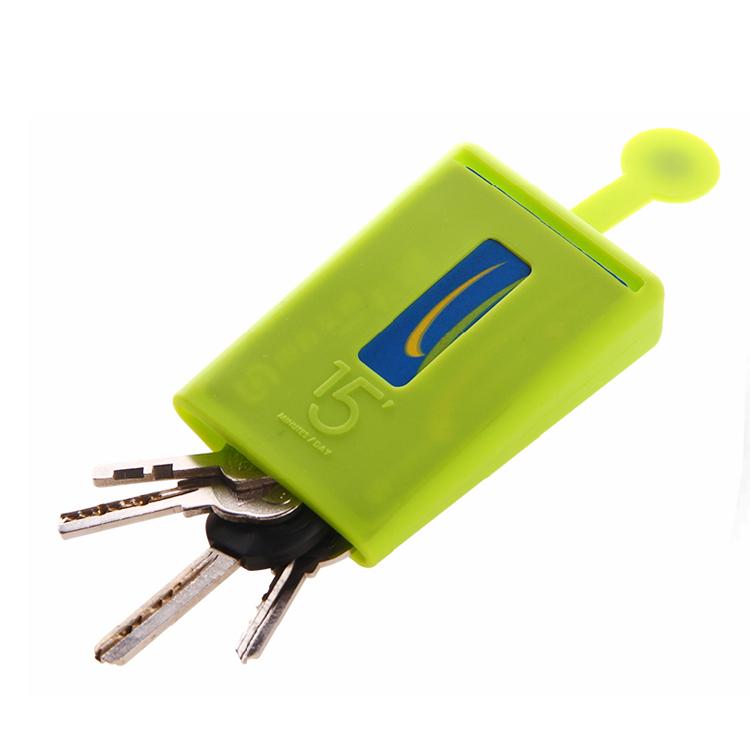 Stylor/法國花色硅膠鑰匙包便攜收納卡包定制
