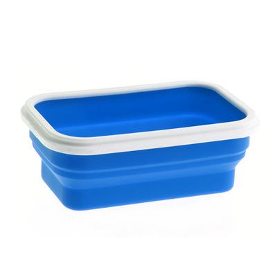 Stylor/法國花色迷你折疊飯盒便當盒微波爐飯盒