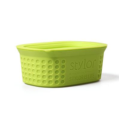 Stylor/法國花色納米硅膠微波保鮮盒嬰幼防摔碗