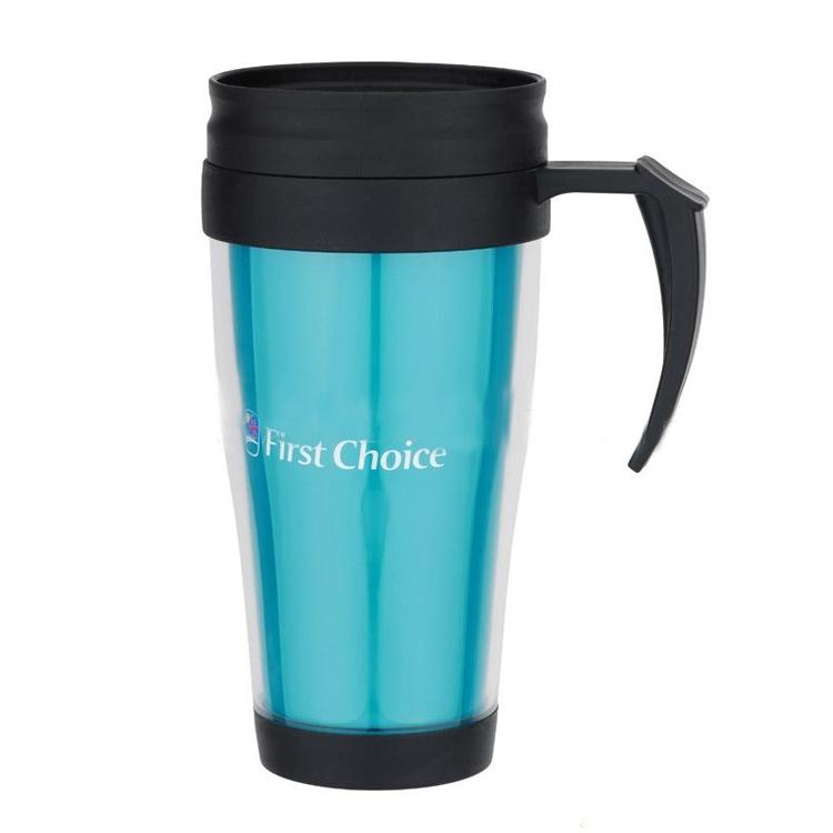 雙層塑料旅行杯水杯廣告塑料杯450ml毫升