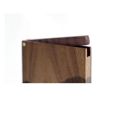 墨系列豎款名片夾 男士商務名片盒 大容量實木時尚收納盒