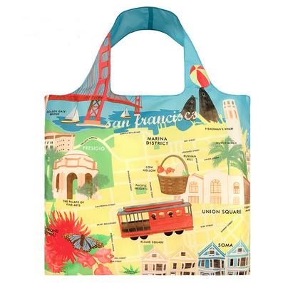 LOQI城市系列 購物袋 單肩 時尚潮流環保多功能折疊春卷包定制