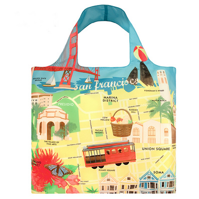 LOQI城市系列 购物袋 单肩 时尚潮流环保多功能折叠春卷包定制