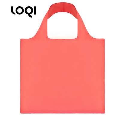 LOQI 春卷包 单色系列  购物袋单肩斜跨女包折叠袋定制